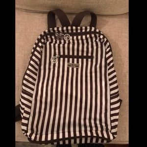 Henri Bendel Black & White Convertible Backpack